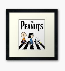 Peanuts Abbey Road Framed Print