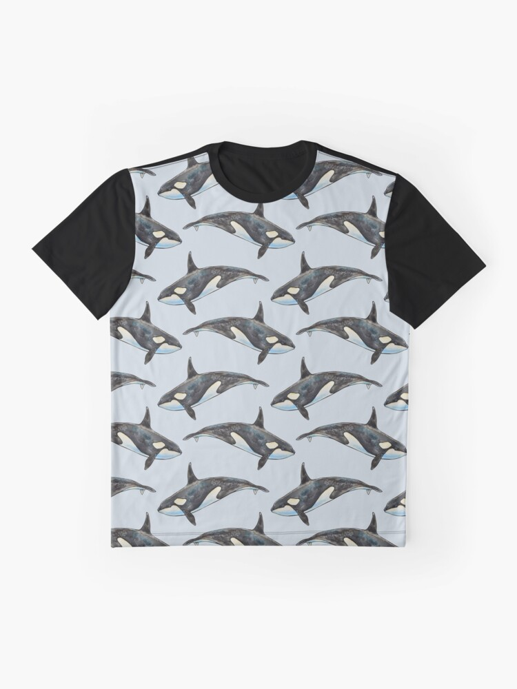 Alternate view of Orca on blue Graphic T-Shirt