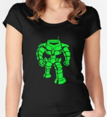 Manbot - Super Lime Variant Women's Fitted Scoop T-Shirt