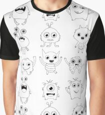 Black and white silly monsters Graphic T-Shirt