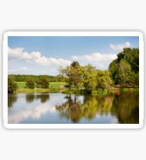 Lake and trees rural landscape Sticker