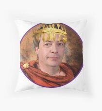 Emperor Nigel Farage Throw Pillow