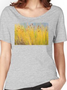 Colorful Autumn Cattails Women's Relaxed Fit T-Shirt