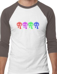 Manbot - Multi Bot Variant Men's Baseball ¾ T-Shirt