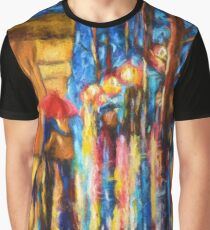 Love in the Rain (Digital Touch) Graphic T-Shirt