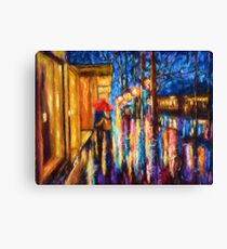 Love in the Rain (Digital Touch) Canvas Print