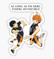 As Long As I'm Here You're Invincible Sticker