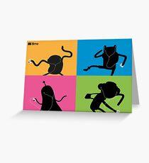Adventure Time Bmo's Campaign (Apple iPod Parody). Greeting Card
