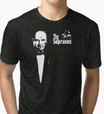 The Sopranos (The Godfather mashup) Tri-blend T-Shirt