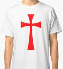 Long Cross - Knights Templar - Holy Grail - The Crusades Classic T-Shirt