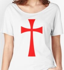 Long Cross - Knights Templar - Holy Grail - The Crusades Women's Relaxed Fit T-Shirt
