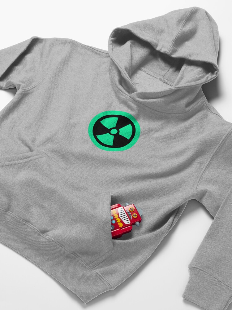 Alternate view of Fluo Radioactive Kids Pullover Hoodie