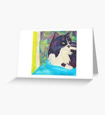 Marty McSpace Cat Greeting Card