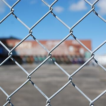 Graffiti Beyond A Fence by GriffMAD
