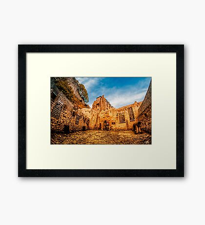 Through the Gates Framed Print