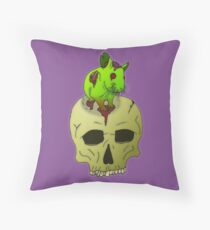 Zompeach panic Throw Pillow