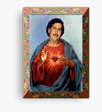 Saint Pablo Escobar Canvas Print