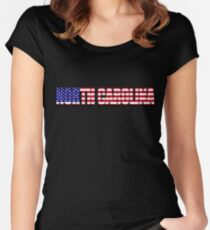North Carolina United States of America Flag Women's Fitted Scoop T-Shirt
