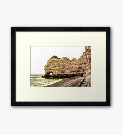Etretat Beach Framed Print