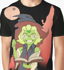Green Witch Nerd Graphic T-Shirt