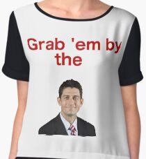Grab 'em by Paul Ryan Women's Chiffon Top