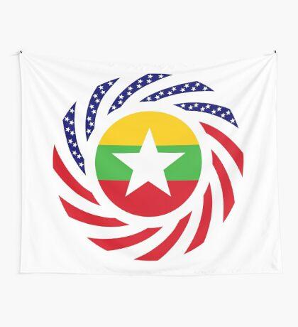 Myanmar American Multinational Patriot Flag Series Wall Tapestry