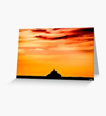 Monument at Dusk Greeting Card