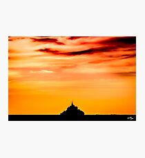 Monument at Dusk Photographic Print