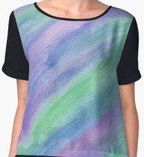 Cool Color Streaks Chiffon Top