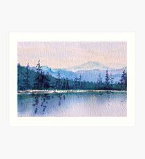 Calm Peaceful Blue Mountain Waters  Art Print