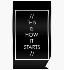 This is how it starts Poster