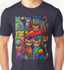 Rainbow cats acrylics Unisex T-Shirt
