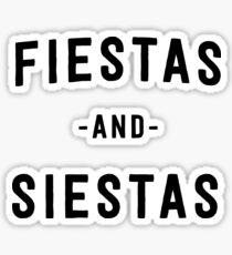 Pegatina Fiesta y Siestas