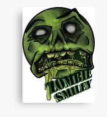Zombie Smiley  Canvas Print