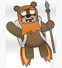 zombie ewok with a jetpack Poster