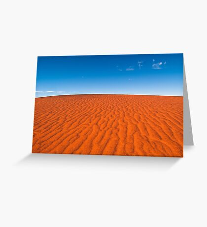 Red Sand, Blue Sky Greeting Card