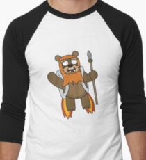 zombie ewok with a jetpack Men's Baseball ¾ T-Shirt