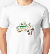 Australian animal map  T-Shirt