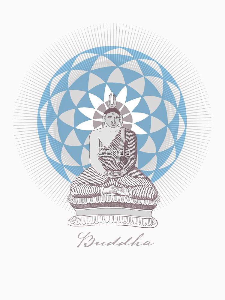 Buddha & Lotus Flower by Zehda