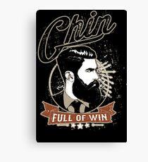 Chin Full of Win Canvas Print