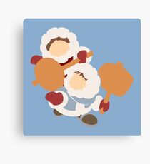 Smash Bros - Ice Climbers Red Gloves Canvas Print