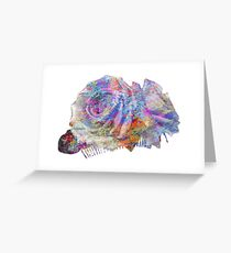 Rose Colorful Brush Greeting Card