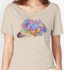 Rose Colorful Brush Women's Relaxed Fit T-Shirt