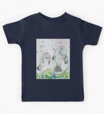 Mother Manatee and baby by Liz H Lovell Kids Clothes