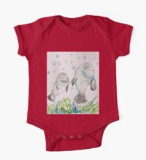Mother Manatee and baby by Liz H Lovell One Piece - Short Sleeve