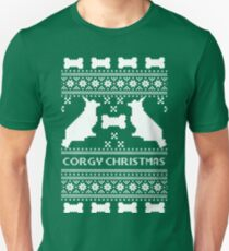 Christmas sweater - corgi christmas green Unisex T-Shirt