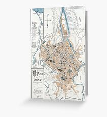 Vintage Map of Ghent Belgium (1905) Greeting Card