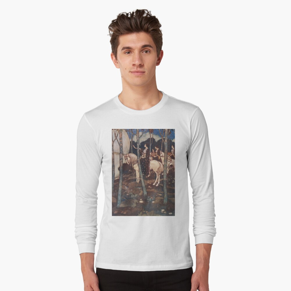 Maidens on white horses. Long Sleeve T-Shirt Front