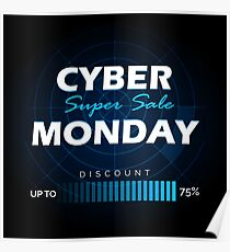Cyber Monday sale design template Poster
