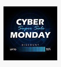 Cyber Monday sale design template Photographic Print